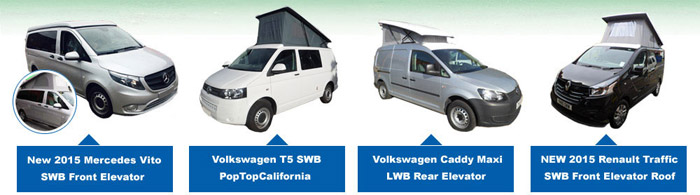 Pop Top Roofs - Camper Van Roofs and Seats